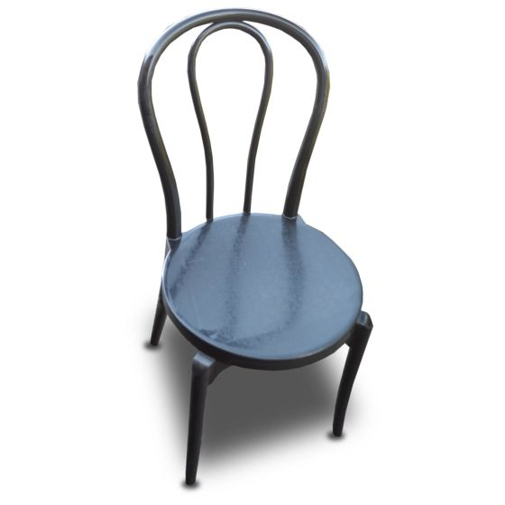 Dark Plastic Chairs x12