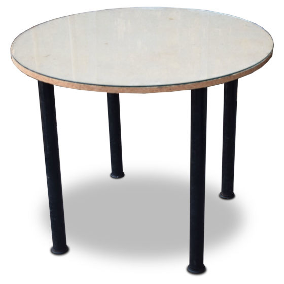 x8 Round Tables with Glass Top