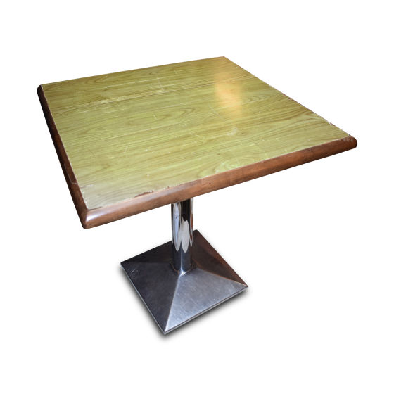 x14 Small Tables with Stainless Bases