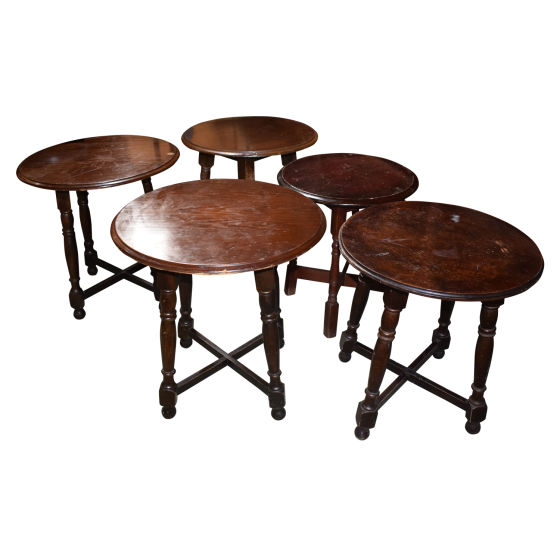 4 xVarious Round Bar Tables