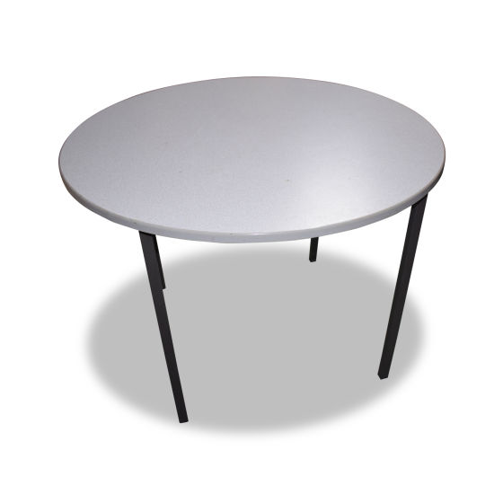 5 x White Round School Tables