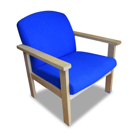 Blue Fabric Lounge Chairs x5
