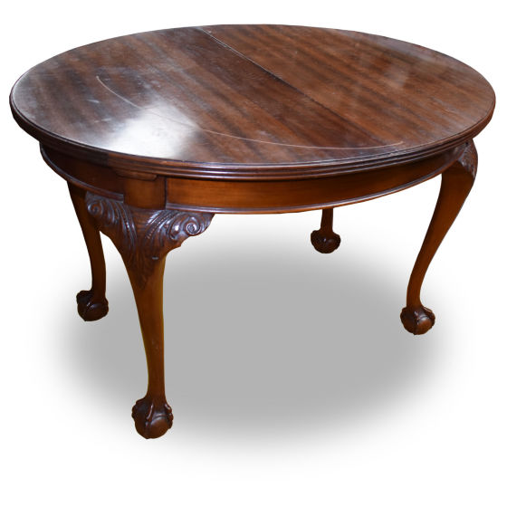 Mahogany Round Claw & Ball Table
