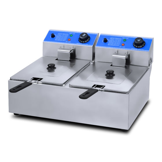 New Anvil Tabletop Twin Tank Fryer