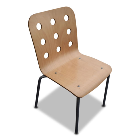 x6 Lightwood Stacking Chairs