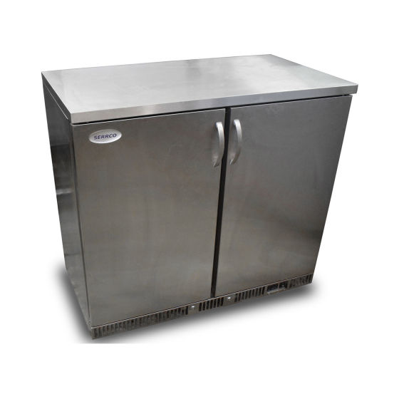 Serrco Double Under Counter Fridge