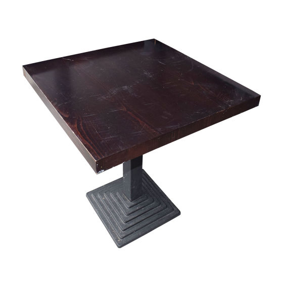 x18 Square Darkwood Tables