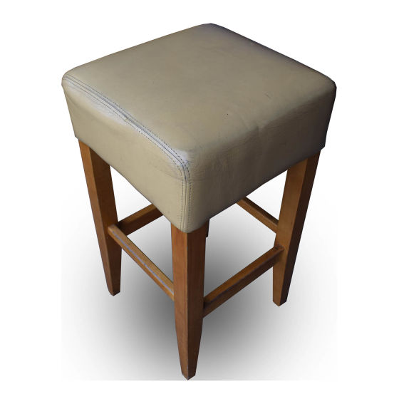 x9 Leather Poseur Stools