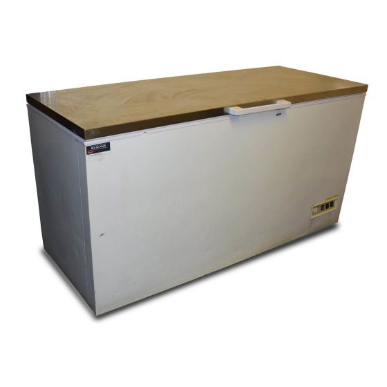 Stainless Steel Topped Chest Freezer