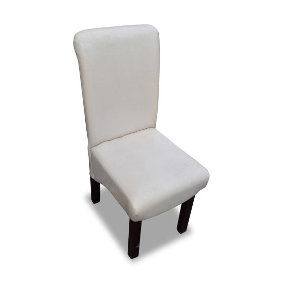 White Leather Dining Chairs x60