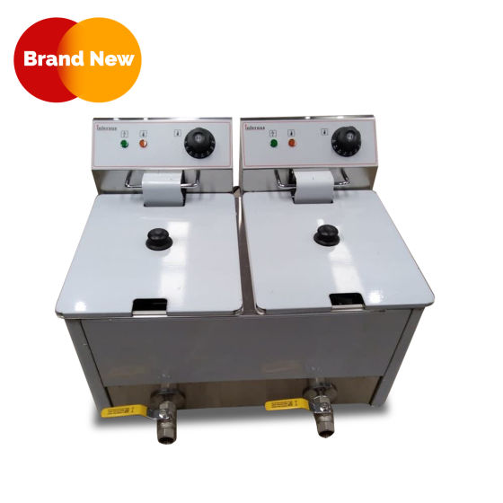 Electric Double Countertop Fryer with Tap