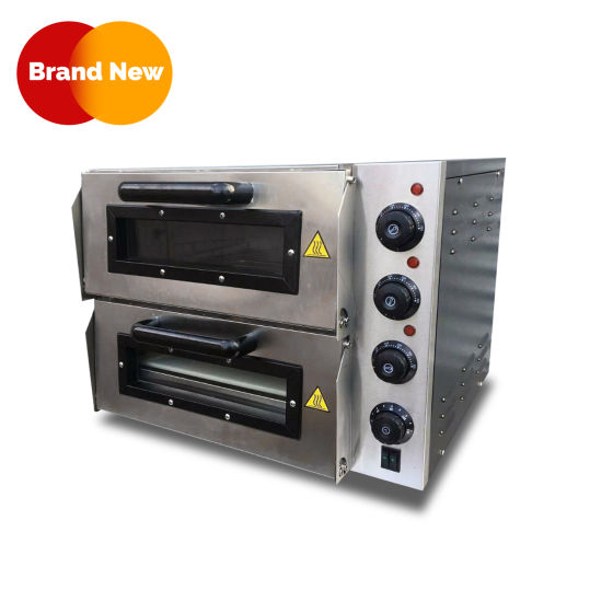 2-Deck Stainless Steel Electric Pizza Oven 16″