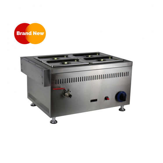 Bain Marie 1X GN1/2 & GN1/4 X2 Pans, Lids And Tap GAS