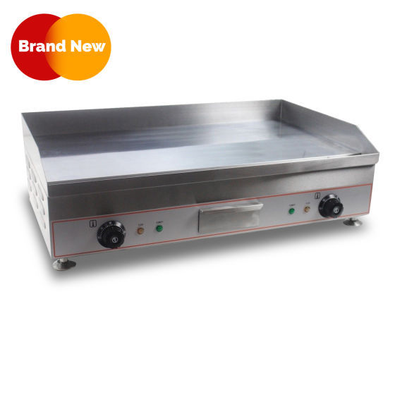 Counter Top Electric Griddle Solid Plate 75CM CHROME