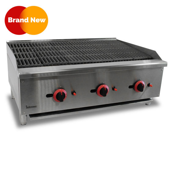 Gas Radiant Charbroiler Char Grill 900MM