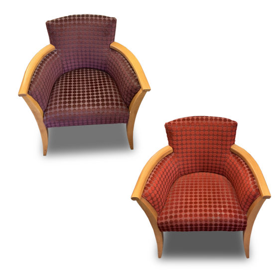 x51 Red & Purple Spotted Chairs