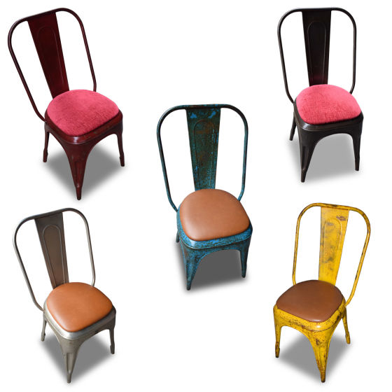 x 26 Tolix Chairs Mixed Colours