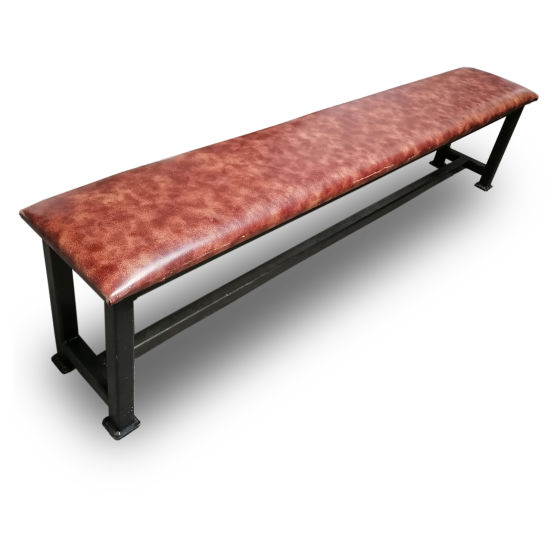 x2 Leather Metal Benches