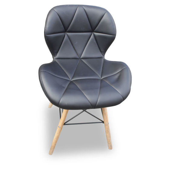 Faux Leather Eames Style Dining Chairs (x4)