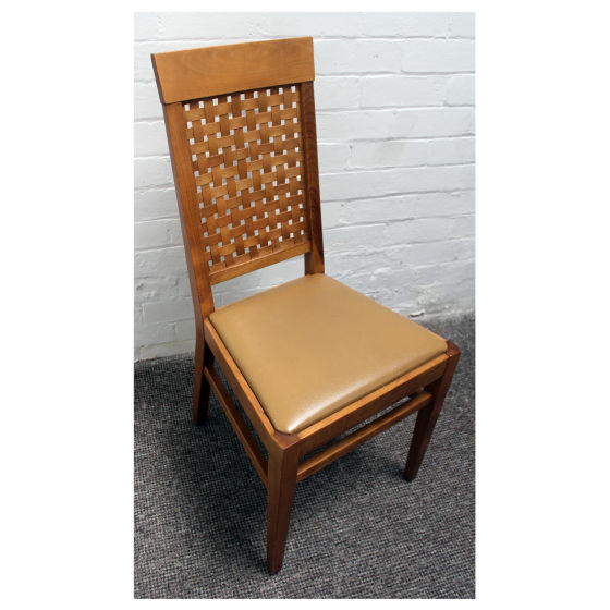 x5 Mixed Woven Backed Dining Chairs