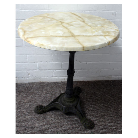 x3 Britania Round Marble Effect Tables