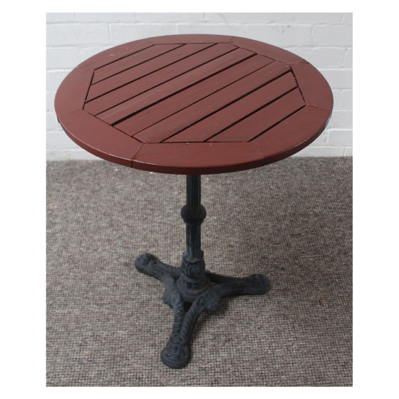Britania Round Wooden Top Table
