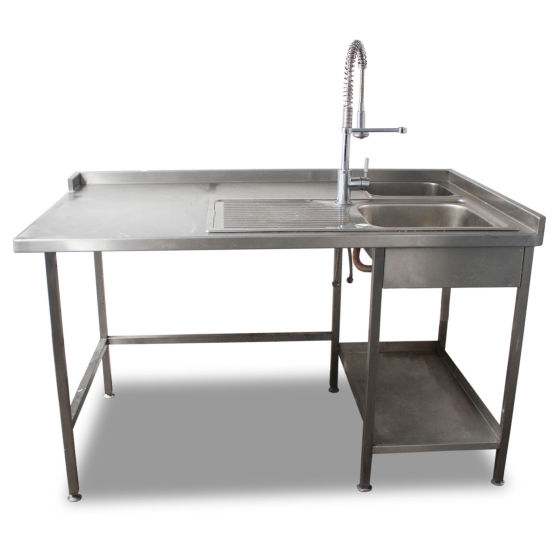 Double Stainless Sink with Spray Arm