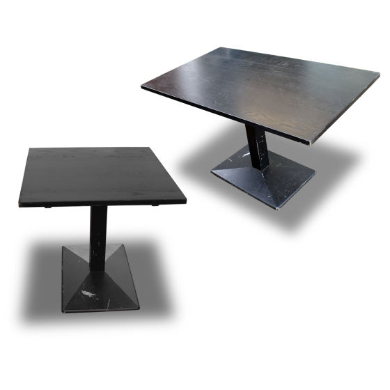 x8 Dark Wood Tables with Raised Base