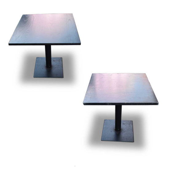 x4 Dark Wood Tables with Metal Bases