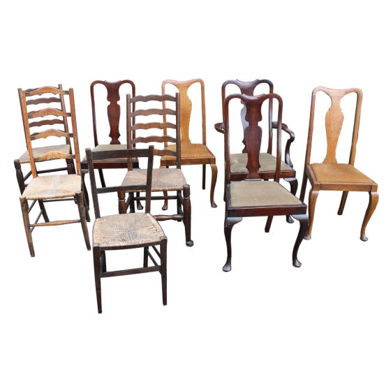 x10 Mixed Antique Chairs