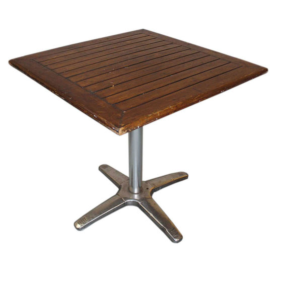 Dark Wood Bistro Table