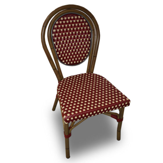 x4 Red & White Wood Chairs