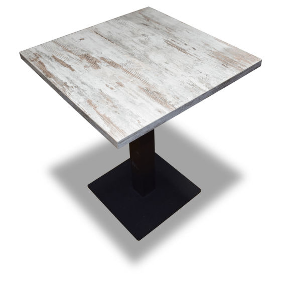 2x White Wood Tables