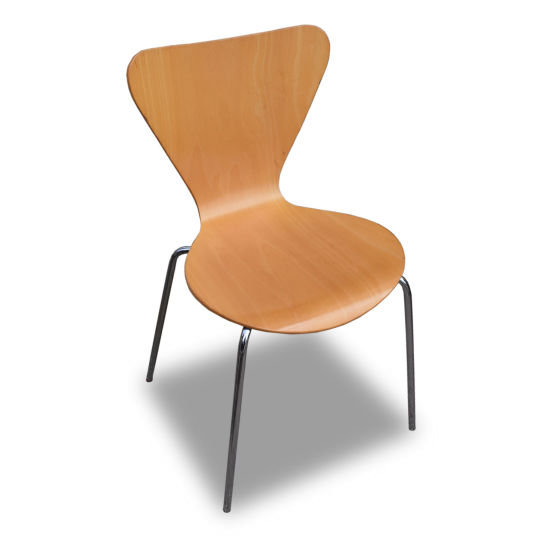x14 Wooden Chairs with Metal Legs