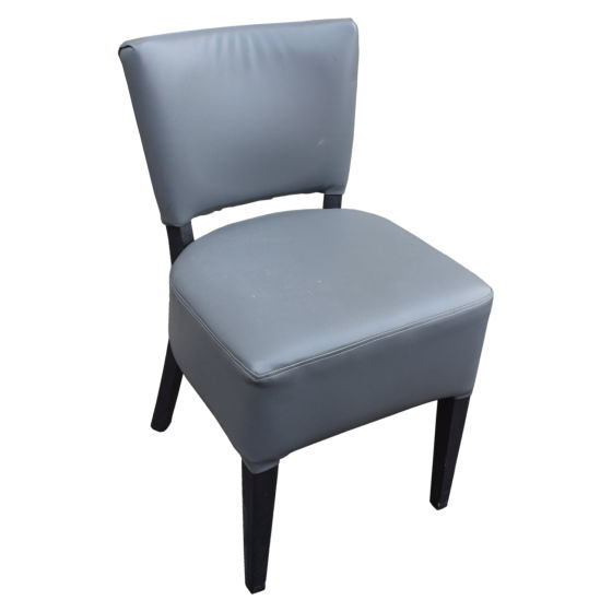 x35 Grey Leather Dining Chairs