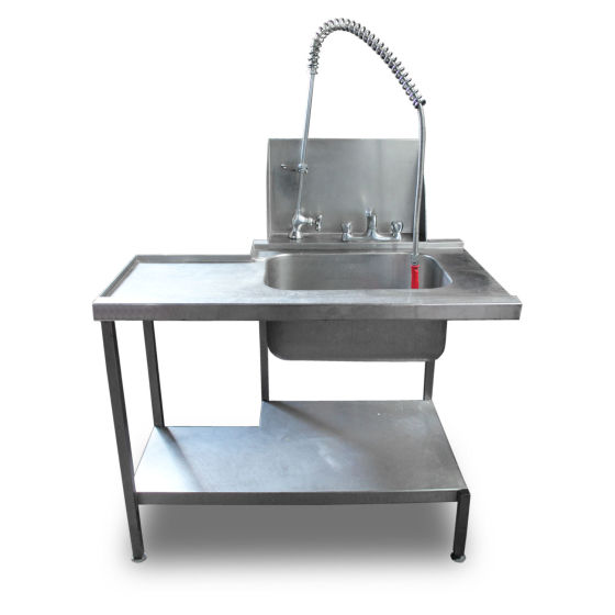 1.1m Stainless Steel Pass-Through Sink