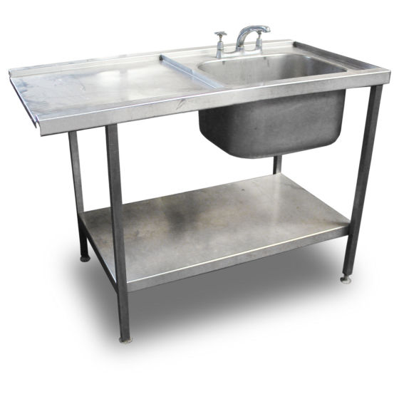 1.2m Stainless Steel Pass-Through Sink