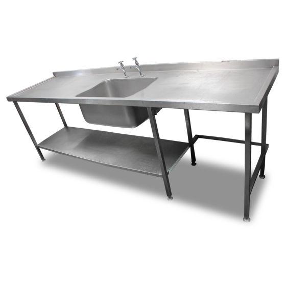 2.6m Single Stainless Steel Sink