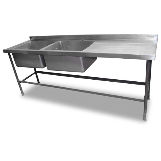 2.1m Double Stainless Steel Sink