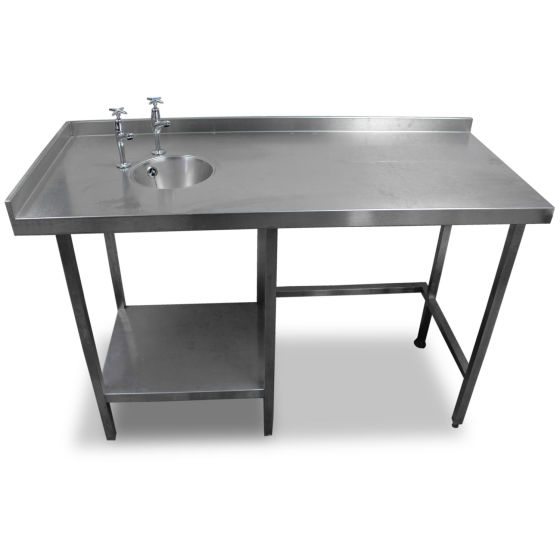 1.4m Stainless Steel Table With Handsink