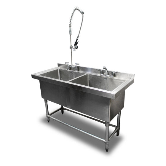 1.4m Double Stainless Steel Sink