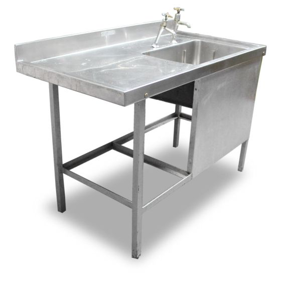 1.2m Stainless Steel Single Sink