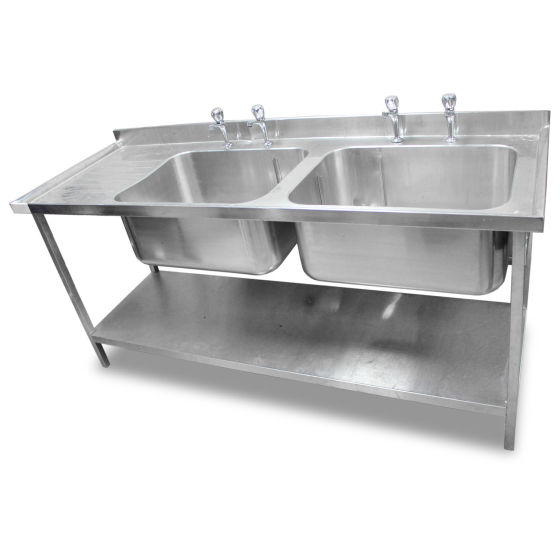 1.8m Stainless Steel Double Sink