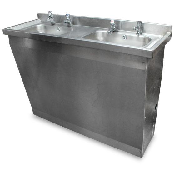 1.2m Double Hand Sink Unit