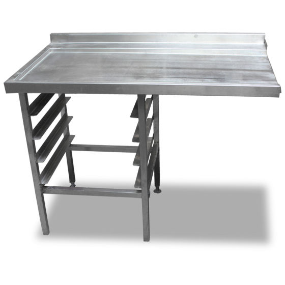 1.2m Stainless Steel Dishwasher Side Table