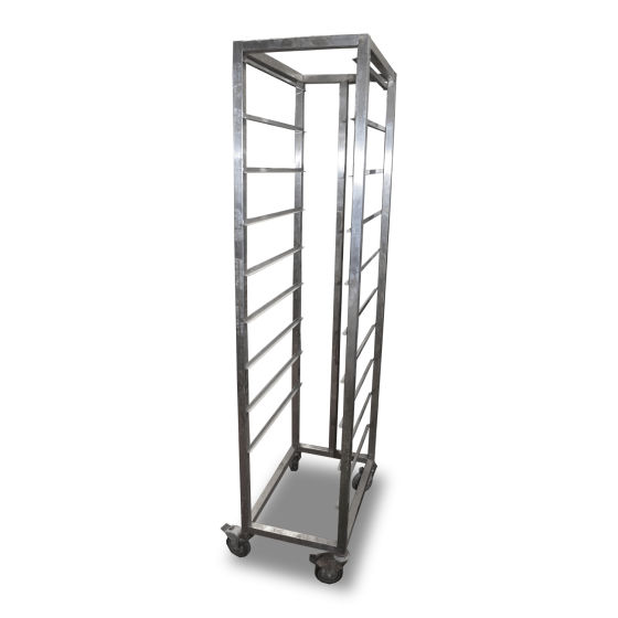 Stainless Steel 9 Level Bakery Trolley