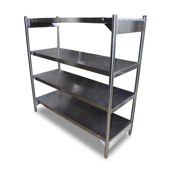 1.5m Stainless Steel 4 Tier Shelving Unit