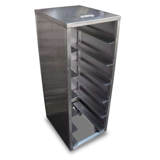 0.4m Stainless Steel Racking Trolley (x3)