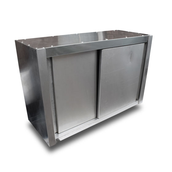 1m Stainless Steel Sliding Door Wall Cupboard